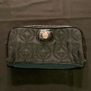Vera Bradley solid black makeup bag